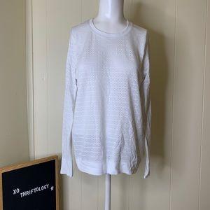 LULULEMON White Long Sleeve Mesh Vented Shirt